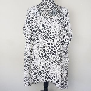 Lane Bryant Leopard Short Sleeve Blouse